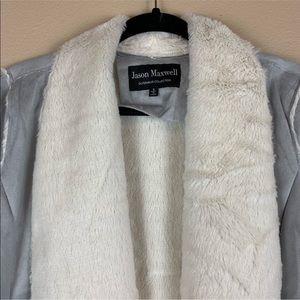 jason maxwell Jackets & Coats - • Jason Maxwell • Faux Fur & Suede Drape Jacket